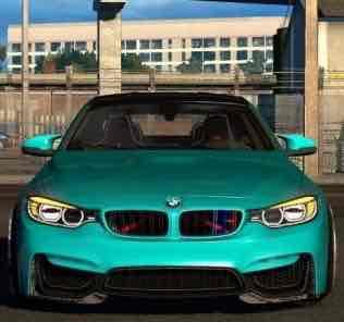 Мод BMW M4 F82 V2.0  для Американ Трек Симулятор 2 (ATS)