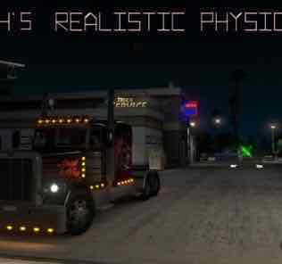 Мод Frkn64's Realistic Physics Mod v1  для Американ Трек Симулятор 2 (ATS)