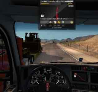 Мод GPS Above  для Американ Трек Симулятор 2 (ATS)