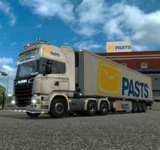 Мод Latvijas Pasts  для Евро Трек Симулятор 2 (ETS 2)