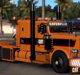 Мод Special Transport Accessories+Caterpillar skins (viper2 389+bumper GTM w900b) V2 Reupload  для Американ Трек Симулятор 2 (ATS)