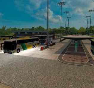 Мод Mapa Eaa Bus Version V5.0.4  для Евро Трек Симулятор 2 (ETS 2)